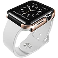 X-Doria 42mm Apple Watch Case (Defense Edge) Premium Aluminum and TPU Bumper Frame (Gold) - Compatible with Apple...