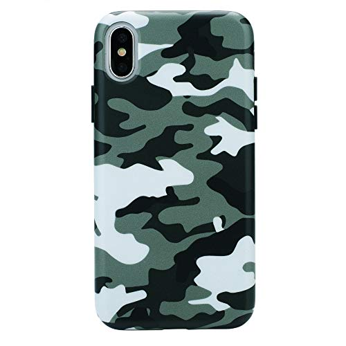 (Green Camo iPhone Xs Max Case - Premium Protective Cover - Cool Phone Cases for Girls & Men [Drop Test Certified])