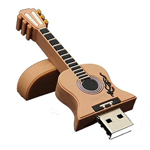 Aribelly 1gb/2gb/4gb/8gb/16gb/32gb Guitar USB 2.0 Metal Flash Memory Stick Storage Thumb U Disk (32GB, - Micro M2 Stick