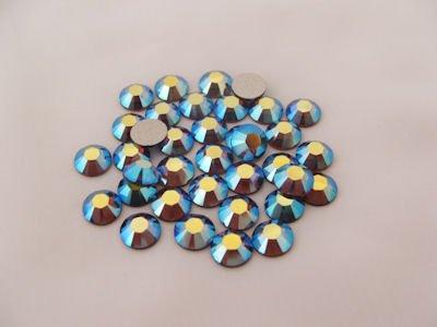 SMOKED TOPAZ AB Rhinestone Crystal 144 SWAROVSKI (Smoked Topaz Swarovski Crystal Beads)