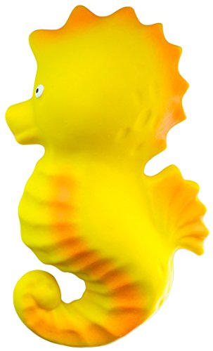 CaaOcho Ocean - Nalu the Seahorse Natural Rubber Bath Toy - Hermetically sealed, BPA, PVC, phthalates Free