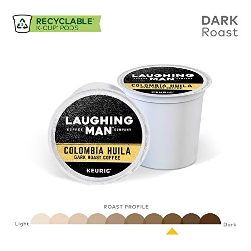 Laughing Man, Colombia Huila, Single-Serve Keurig K-Cup Pods, Dark Roast Coffee, 96 Count (6 Boxes of 16 Pods) by Laughing Man (Image #2)