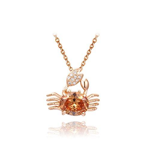 AROUND 101 Best Gift -- Swarovski Elements AAA Zircon Rose Gold Cute Crab Pendant (Best Around The World Costume Ideas)