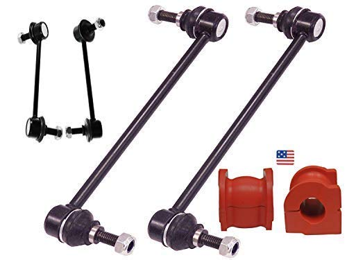 Suspension Dudes 6PC Front & Rear Stabilizer Bar Links + Front Bushings for 2003-2008 Honda Pilot/Acura MDX 2003-2006