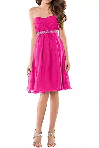 Brautjungfernkleider Cocktailkleider Braut Marie Abendkleider Partykleider Herrlich Silber Guertel La Pink Pailletten Chiffon 1T4qCwx