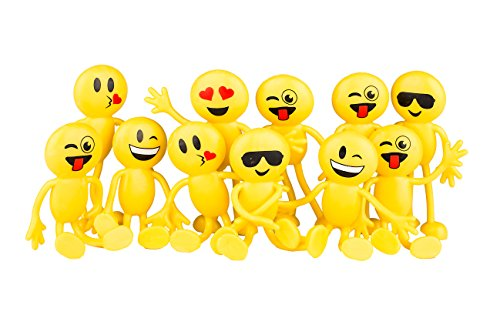 Neliblu Emoji Party Favors - Fun Toys - 1 Dozen 4.5