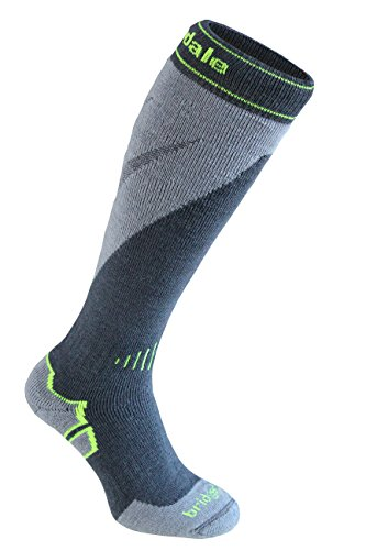 Bridgedale Men's Mountain Socks, Gunmetal/Stone, Large ()