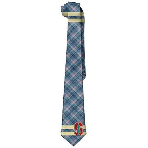 ReBorn Stanford Logo University Mens New Business Silk Wide Ties Necktie ()