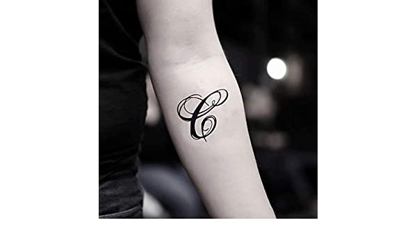 Tatuaje Temporal de Letra c (2 Piezas) - www.ohmytat.com: Amazon ...