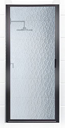 Coastal Shower Doors P32.66O-A Paragon Series Framed Continuous Hinged Shower Door in Aquatex Glass 32