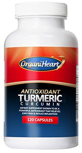 OrganiHeart - curcumine du curcuma - 100 % naturel antioxydant - 120 Capsules (120 Capsules) (120 Capules)