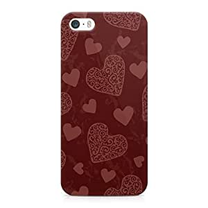 iPhone 5s Case Valentines Day Couples Love Heart Pattern Durable Light Weight Vibrant Colors Wrap around iPhone 5 Case 10