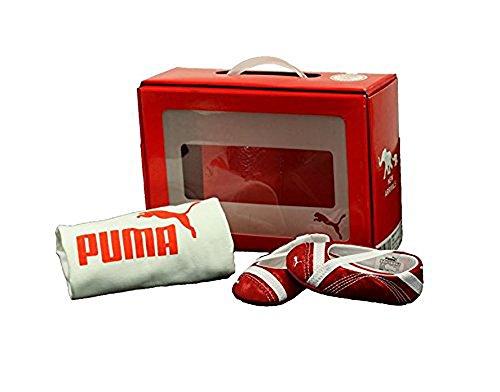 Puma . Crib Pack Arayla Shimmer Red Shoes/White T-Shirt (2 M Crib)