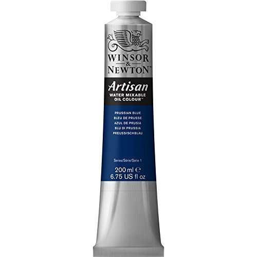 Winsor & Newton Artisan Water Mixable Oil Colour Paint, 200ml Tube, Prussian Blue
