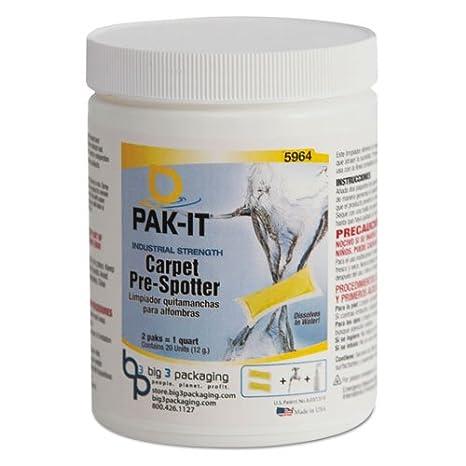 Amazon.com: PAK-IT - Carpet Pre-Spotter, Citrus Scent, 20/Jar 596420002240 (DMi EA: Office Products