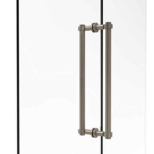 (Allied Brass 404-18BB-PEW Contemporary 18 Inch Back Shower Door Pull, Antique Pewter)