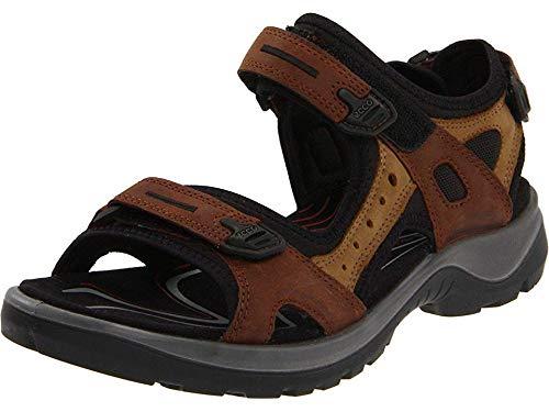 ECCO Women's Yucatan Sandal, Bison/Mineral/Black, 42 EU / 11-11.5 M US Black Pu Strap Watch