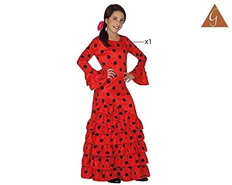 Atosa - Disfraz de flamenca para niña, color rojo, talla L, 7-9 ...