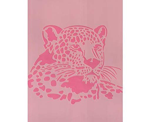 Plastic Template A4 Leopard, Efco, Plastic Standard. Royalty Free Cliparts, Vectors, and Stock Illustration