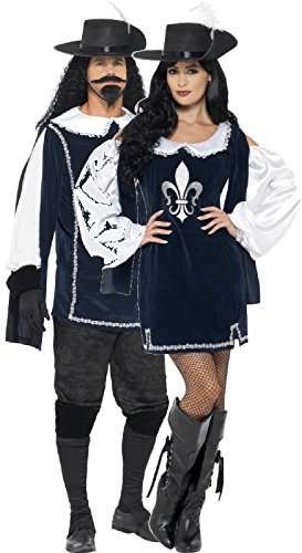 Couples Ladies AND Mens Musketeer Bandit French Revolution