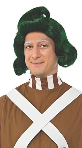 RUBIE'S COSTUME COMPANY INC Men's Willy Wonka and The Chocolate Factory Oompa Loompa Wig, As Shown, One Size -