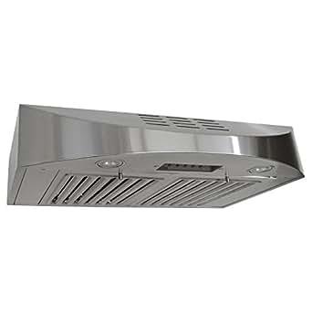 KOBE CHX3830SQBD-3 Brillia 30-inch Ductless Under Cabinet Range Hood, 3-Speed, 400 CFM, LED Lights, Baffle Filters