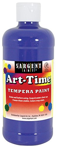16 oz Blue Time Tempera Paint - Sargent Art 17-6450