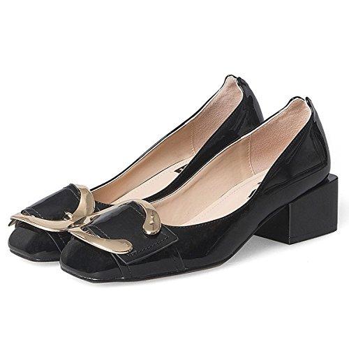 Chaussures Automne Femmes DIMAOL Pour PU Comfort Talon Printemps Carr Heels aqPq7wd