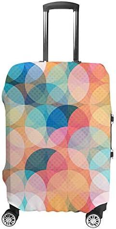 スーツケースカバー 色円 伸縮素材 キャリーバッグ お荷物カバ 保護 傷や汚れから守る ジッパー 水洗える 旅行 出張 S/M/L/XLサイズ
