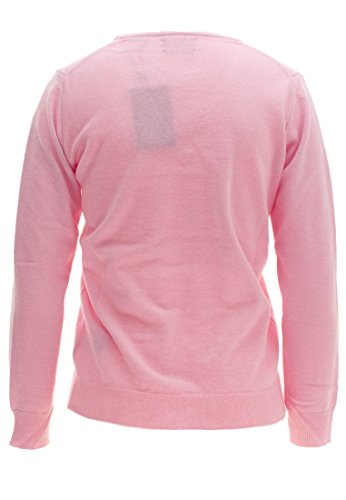 Gant Superfine Lambswool V-Neck Sweater, Suéter para Mujer Rosa (California Pink)