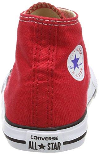 Converse Chuck Taylor All Star Core Hi Zapatillas de tela, Unisex - Infantil Rojo