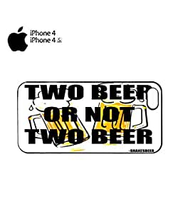 Two Beer or Not Two Beer Mobile Cell Phone Case Cover iPhone 4&4s Black