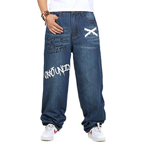 DOYK Boys' Skateboard Pants Men's Denim Wide Leg Trousers