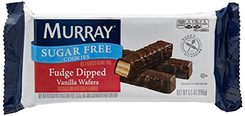 Murray Sugar Free Cookies Fudge Dipped Vanilla Wafers, 5.5-Ounce Packages (Pack of 12) (Murray Sugar Cookies Free)