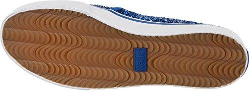Keds Double Decker Baskets En Toile Mode A Enfiler Paillettes (Bleu)
