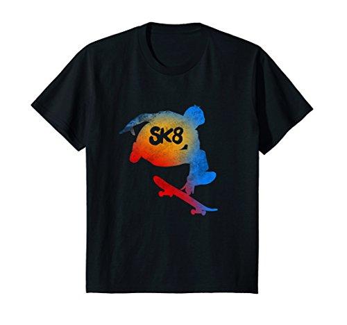 Kids Skateboarding Evolution T shirt Cool Sk8 Skater Tee Gifts 12 - Evolution Kids T-shirt
