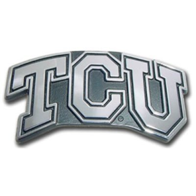 TCU Horned Frogs ''TCU'' Premier Chrome Metal Auto Emblem by Promark