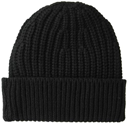Goodthreads Men's Marled Beanie, Black, one Size