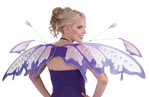 Forum Novelties Women's Fantasy Fairies Raindrop Fairy Wings, Purple, One (Fairie Wings)