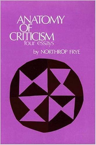 Anatomy of Criticism: Four Essays [2/1/1971] Northrop Frye ...