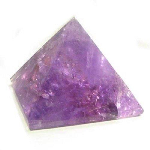 Amethyst Mini Pyramid Shaped Stone Crystal (2) ()