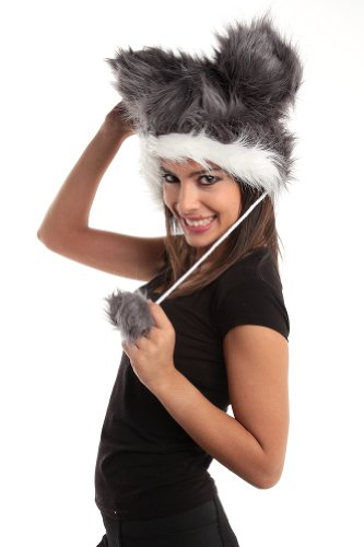 Plush Animal HUSKY Gloves Scarf product image