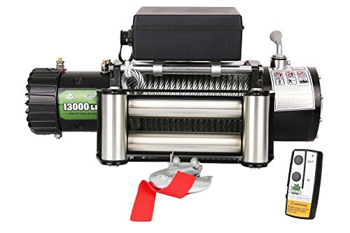 Road Off Batteries - OFFROAD BOAR Steel Wire Rope Waterproof Winch - 13000 lb. Load Capacity
