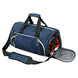 Gym Sports Small Duffel Bag for Men and Women with Shoes Compartment - PULCHER (X-Small, Blue)