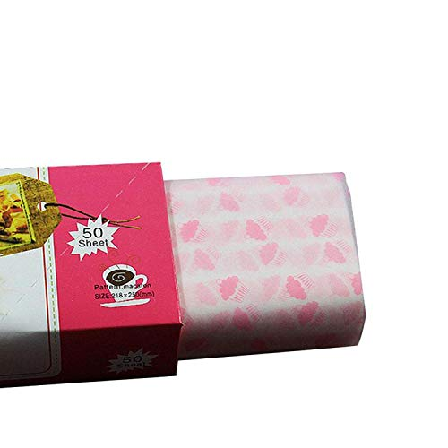 - 50pcs Wax Paper Food Chocolate Candy Wrapping Paper Soap Packaging DIY Christmas Gift Wrapping Paper Butter Greaseproof Baking