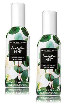 Bath and Body Works 2 Pack Eucalyptus & Mint Concentrated Room Spray. 1.5 Oz.