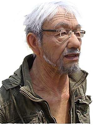 CANDYANA Máscara De Hombre Viejo Realista Cabeza Y Cuello Disfraz ...