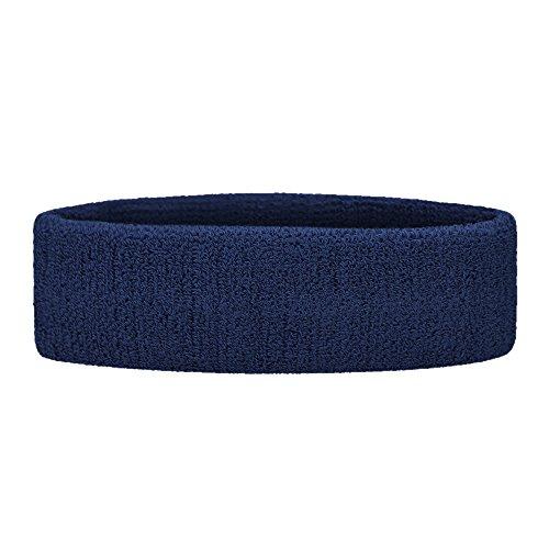 - GOGO Sports Headband/Sweatband, Terry Cloth Head Band - Navy