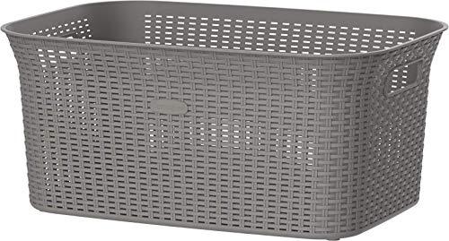Cosmoplast 50L Cedarattan Laundry Basket, Grey