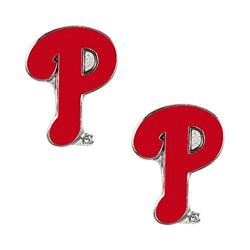 Aminco International MLB Philadelphia Phillies Post Stud Logo Earring Charm Set